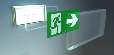 Installation d'éclairage de sécurité pour les entreprises